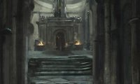 Deep Underground, the party breaks through the catacomb wall to find a shrine to the darkness itself