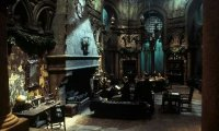 A quiet place in the Slytherin dungeon for studying.