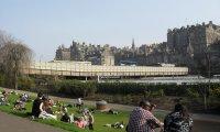 A spring day in a park in Edinburgh