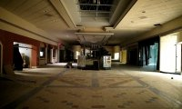 A dead mall on a dark & stormy night