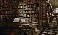studying in private library