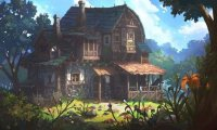 Warm and Bubling with life, sits a house on a hill, with a very happy family inside it