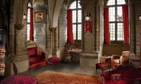 studying at the Gryffindor common room