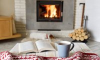 Common Room Studying With a Roaring Fire and Tea