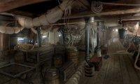 Sleeping below deck of a pirate brigantine