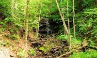 creek layered waterfall
