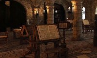 Studying in a Monk Scriptorium,1500's