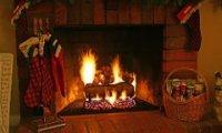 Santa Sleeps By the Fire