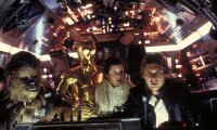 The calming atmosphere of hyperdrive travel in the millennium falcon cockpit