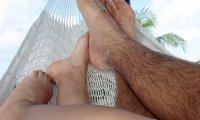 Sharing a hammock