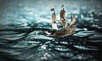 Davy Jones' Ship at Sea