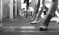 dance studio after dark