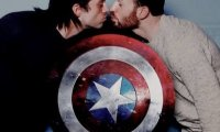 Steve and bucky in their appartment