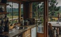 Peaceful Cabin in Autumn