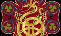 Chill out in the Horned Serpent Common Room of the Ilvermorny School