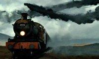 train ride thunder storm