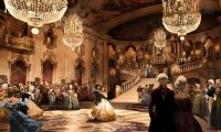 Majestic atmosphere of the Christmas Ball at Phantomhive Manor
