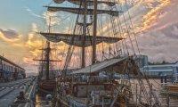 A Bustling Dock