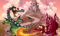 Fantasy RPG Fight with monsters