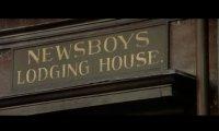 Newsboy lodging house at night