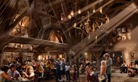 Dinner at the Three Broomsticks