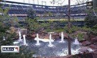 fountain at a ballgame