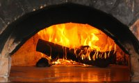 Fireplace Crackling Wood in Winter