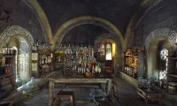 In the Hogwarts Potions Classroom