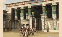 Chants in an Egyptian temple