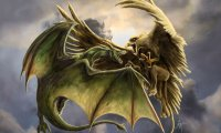 A battle between two powerful armies: dragons, gryphons, magical snowstorms and heavenly chants.
