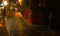 Rainy day pub, slight darkness.
