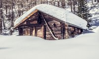Cabin in a Snowstorm
