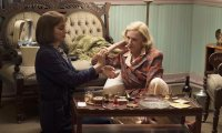 Carol and Therese enjoying a quiet evening