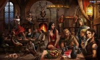 Tavern sounds with music