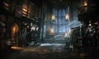 A moonlit night deep into the depths of the library , hidden amongst the shelves, a quiet night.