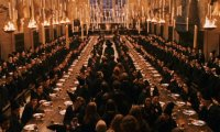 Studying for O.W.Ls in the Great Hall at Hogwarts
