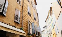 Streetside Café in France