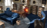 A beautiful morning in the Ravenclaw Common Room