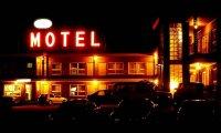 sleeping in a motel room