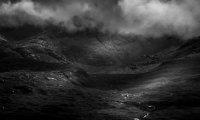 Marche dans la steppe noire