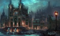 ambiance for a larger city in the warhammer world