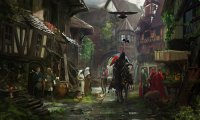 Medieval Towne in the Morning