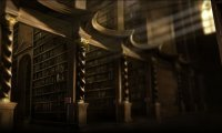 Studying in Hogwarts Library