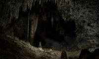 Creepy, dark, and frightening cave.