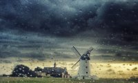 Stormy Evening in a Windmill