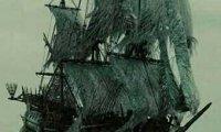 Aboard a ship in the rain