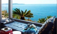 Reading near the ocean
