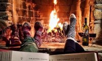 Napping and Reading by the Fire