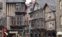 Inside a house on a medieval town