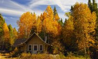 Relax in the cabin from Wild Man on an autumn evening